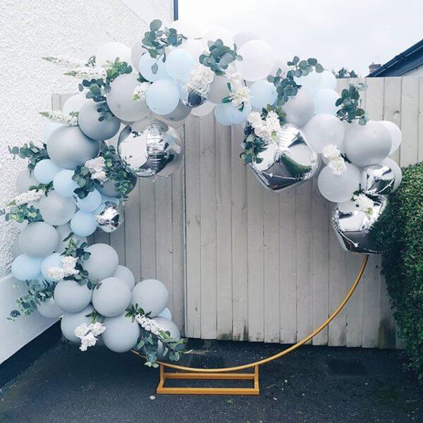 Khung hình bong bóng bạc phụ kiện sinh nhật BBX116