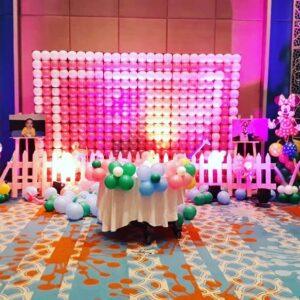 Trang trí sinh nhật trọn gói tại nhà bằng bong bóng BBX122