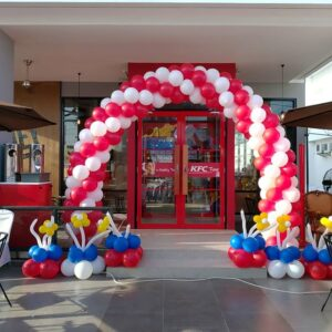 Cổng chào khai trương cửa hàng thức thức ăn nhanh BBX126