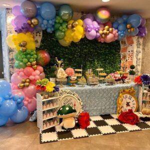 Trang trí sinh nhật trọn gói cho bé gái Alice in Wonderland BBX128