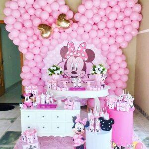 Trang trí sinh nhật trọn gói chuột Minnie BBX134