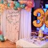 Trang trí backdrop sinh nhật chủ đề giáng sinh BBX149