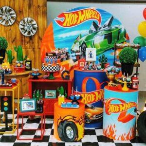 Trang trí sinh nhật trọn gói Hotwheel BBX184