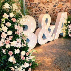 Chữ 3D trang trí sân khấu tiệc cưới BBX190