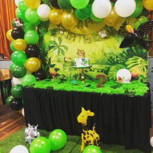 Trang trí sinh nhật trọn gói chủ đề rừng rậm BBX198