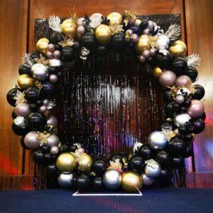Trang trí sân khấu sự kiện màu đen BBX201