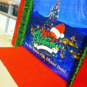 Backdrop giáng sinh cùng thảm đỏ BBX202