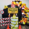 Backdrop sinh nhật caution cho các bé trai BBX235