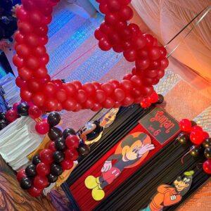 Bóng trái tim trang trí tiểu cảnh sinh nhật BBX243