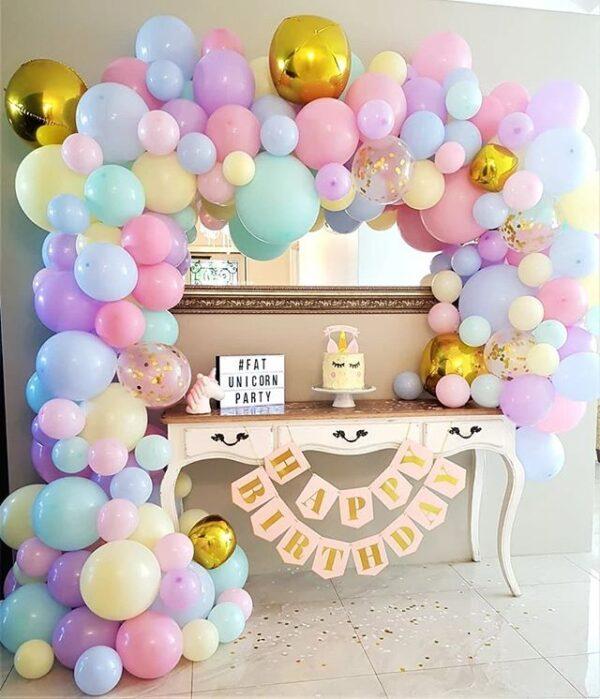 Bàn quà sinh nhật màu pastel đơn giản BBX256
