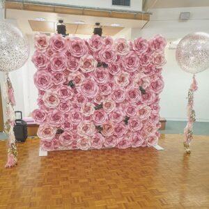 Backdrop hoa giấy trang trí tiệc cưới BBX266