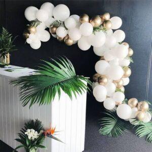 Dây bong bóng trang trí bàn ký tên tiệc cưới BBX267