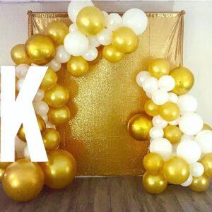 Backdrop khai trương văn phòng vàng đồng, trắng BBX325