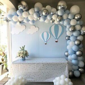 Trang trí sinh nhật trọn gói chủ đề khinh khí cầu bong bóng BBX355
