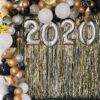 Backdrop sân khấu sự kiện vàng đồng đón chào năm mới 2020 BBX366