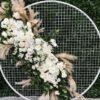 Backdrop khung lươi tròn trang trí sinh nhật BBX401