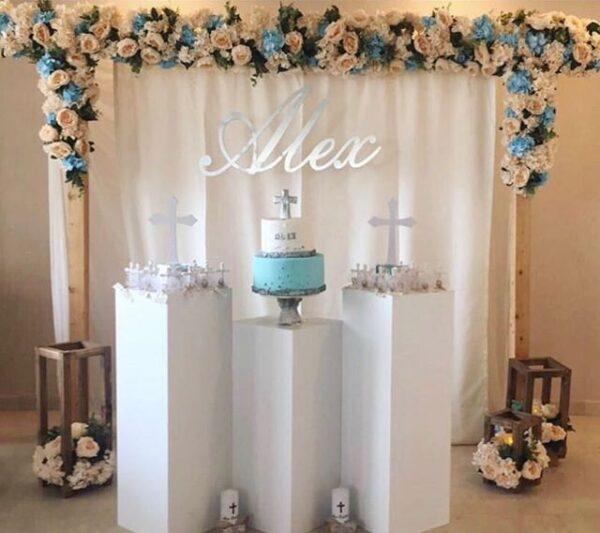 Bộ sản phẩm trang trí tiểu cảnh tiệc cưới đơn giản tại nhà BBX242