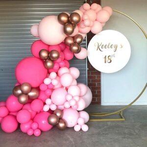 Tiểu cảnh sinh nhật bong bóng màu hồng BBX448