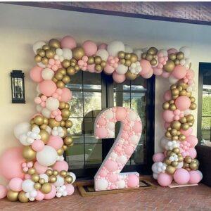 Tiểu cảnh bong bóng 3D trang trí sinh nhật bé gái BBX455