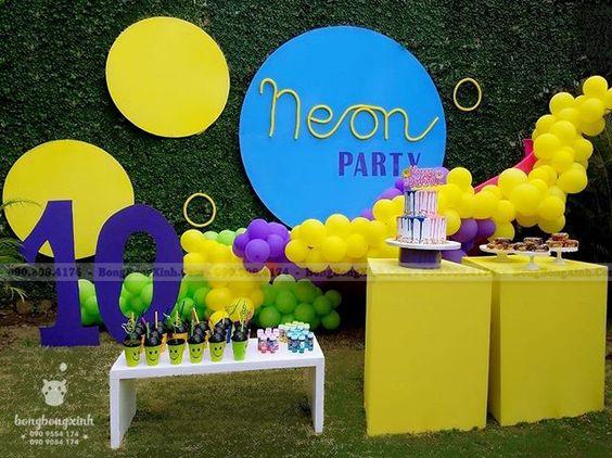 Backdrop sinh nhật sáng tạo cho bé trai 10 tuổi BBBN144