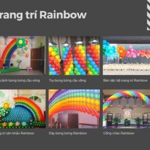 Trang trí sinh nhật trọn gói Rainbow