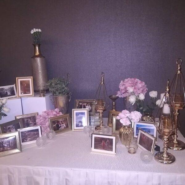 Bàn quà tiệc cưới màu hồng pastel BBX053