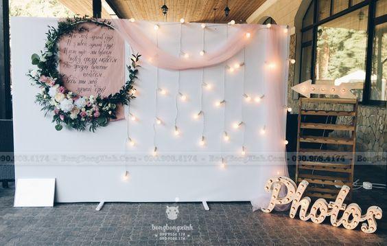Backdrop tiệc cưới format và đèn BRC021