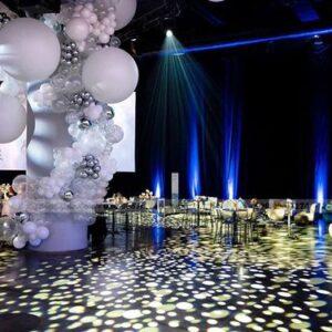 Trụ bong bóng khổng lồ trang trí party TBB150