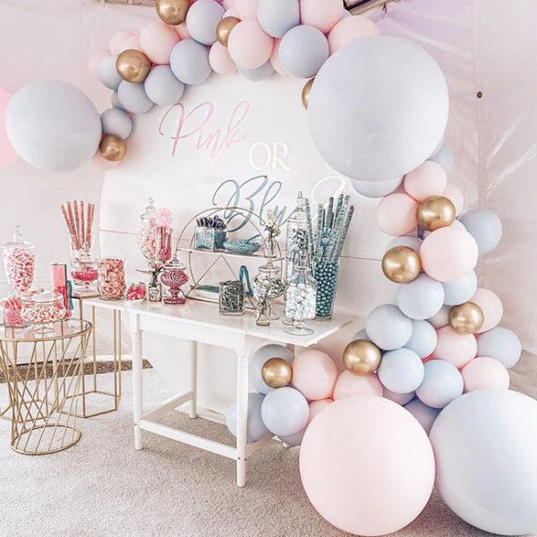 Backdrop sinh nhật kết hợp bàn gallery sang trọng BBX467