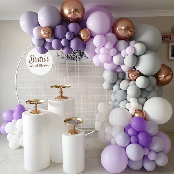 Backdrop bong bóng tiệc cưới sang trọng BBX486