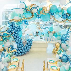 Bàn quà trang trí sinh nhật chủ đề đại dương BBX498