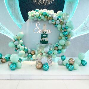 Backdrop sinh nhật màu xanh lá BBX520