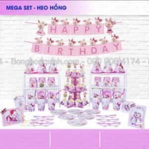 Bộ phụ kiện sinh nhật Heo Hồng BBX554