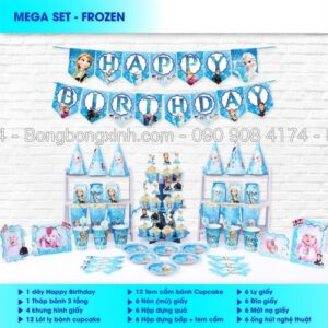 Bộ trang trí sinh nhật Frozen BBX555
