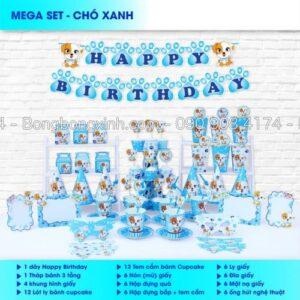 Bộ trang trí sinh nhật Chó Xanh BBX558
