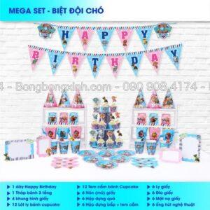 Set trang trí sinh nhật Biệt Đội Chó BBX562