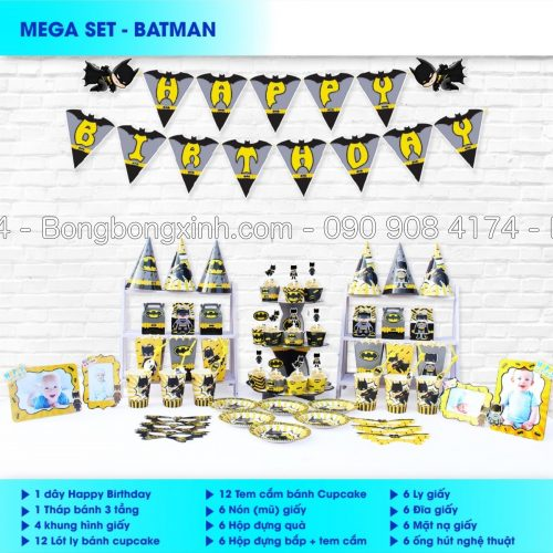 Sét trang trí sinh nhật Batman BBX565