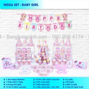 Bộ phụ kiện sinh nhật Baby Girl BBX566