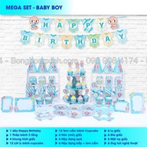 Bộ trang trí sinh nhật Baby Boy BBX567