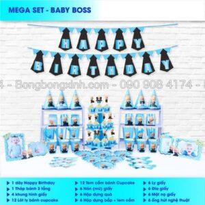 Set trang trí sinh nhật Baby Boss BBX568