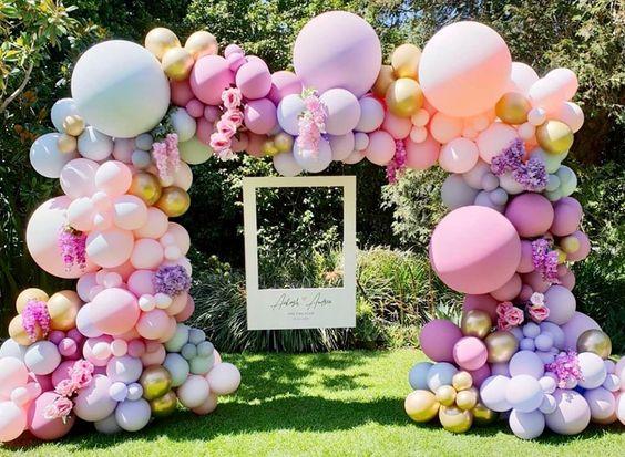 Cổng chào sinh nhật nhiều màu sắc BBX576