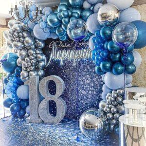 Backdrop sinh nhật màu xanh lung linh BBX578