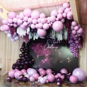 Backdrop sinh nhật màu tím sang trọng BBX583