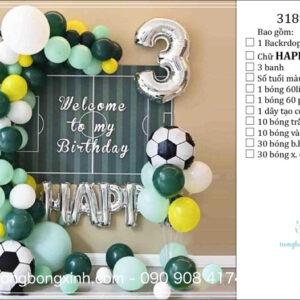 Set trang trí sinh nhật chủ đề bóng đá BBX584
