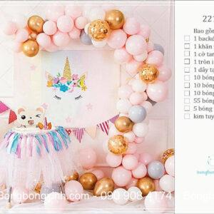 Set trang trí sinh nhật chủ đề ngựa Pony BBX585