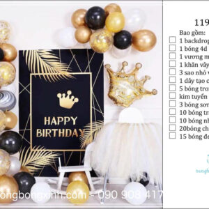 Set trang trí sinh nhật chủ đề Hoàng Tử BBX587