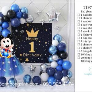 Set trang trí sinh nhật chủ đề Mickey BBX588