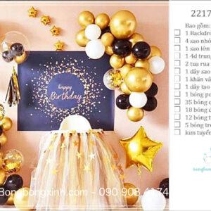 Set trang trí sinh nhật chủ đề Sao Vàng BBX592