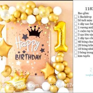 Set trang trí sinh nhật chủ đề Màu Vàng BBX593
