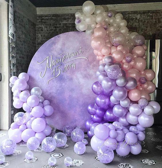 Backdrop trang trí sinh nhật với màu sắc sinh động BBX594